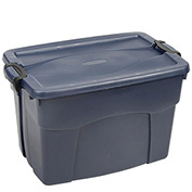 United Solutions RMRT350000 Roughneck Tote Latching 35 Gallon Dark Blue w/Metallic - Pkg Qty 6