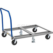 Pallet Dolly with Handle & Floor Lock, 48 x 40, 3600 Lb. Cap.