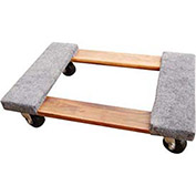 Hardwood Dolly with Carpeted Ends, 24x16, 900 Lb. Cap.