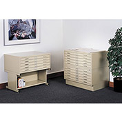 "SAFCO 5-Drawer Steel Flat File - 46-3/8x35-3/8x16-1/2"" - White"
