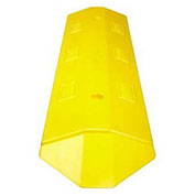 "IronGuard 60-6560A Speed Bump Recycled Rubber Asphalt Installation 36""L x 10-1/2""W x 2""H, Yellow"