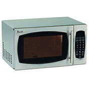 "Microwave Oven, .9 Cubic Feet, 19""W x 15-3/4""D x 11""H, 900 Watt, Stainless Steel"