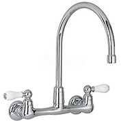 """American Standard® Heritage Wall Mount Kitchen Faucet, 2.2 GPM, 12-1/2""""H, Chrome, 7293.252.002"""