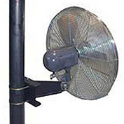"TPI 30"" Pole Mount Fan Oscillating, 1/4 HP, 1 PH, Totally Enclosed Motor"