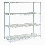 "Stainless Steel Wire Shelving, 60""W x 24""D x 86""H"