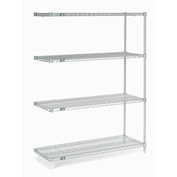 "Stainless Steel Wire Shelving Add-On, 48""W x 24""D x 86""H"