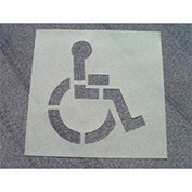 Heavy Duty Stencil Handicapped Parking Symbol, PMS50