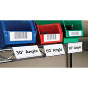 "Wire Shelving Label Holder, 3""W x 1-1/4""H, 25/Pk"