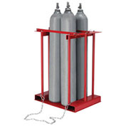 Stationary Forkliftable Cylinder Storage Caddy, 4 Cylinders