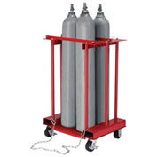 Mobile Forkliftable Cylinder Storage Caddy, 4 Cylinders