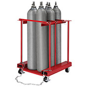 Forkliftable Mobile Cylinder Storage Caddy, 6 Cylinders Capacity