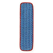 Rubbermaid Commercial HYGEN Single-Sided Room Microfiber Mop Pad, 18-Inch, Red - Pkg Qty 12