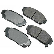 Akebono® ACT409 - Pro-ACT Series Ultra Premium Ceramic Disc Brake Pads