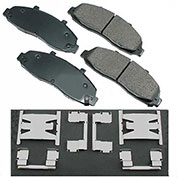 Akebono® ACT679 - Pro-ACT Series Ultra Premium Ceramic Disc Brake Pads