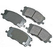 Akebono® ACT1005 - Pro-ACT Series Ultra Premium Ceramic Disc Brake Pads