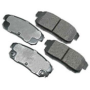 Akebono® ACT1008 - Pro-ACT Series Ultra Premium Ceramic Disc Brake Pads