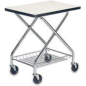 "WESCO Foldaway Table Top Cart - 30""Wx19""D Shelf"