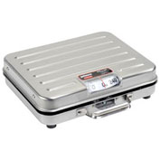 "Rubbermaid Pelouze SS Briefcase Receiving Dial Scale, 250lb x 1lb 13-1/4"" x 10-1/2"""