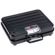 "Rubbermaid Pelouze Briefcase Receiving Digital Scale, 250lb x 1lb 10-1/2"" x 13-1/4"" x 3-7/8"""