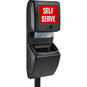 Commercial Zone Vue-T-Ful Pole-Mounted Windshield Service Center, Black