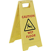 Floor Sign 2 Sided - Caution Wet Floor