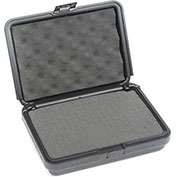 "Black Plastic Protective Storage Cases with Pinch Tear Foam 10""x7-1/2""x2-3/4"""