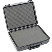 "Black Plastic Protective Storage Cases with Pinch Tear Foam 13-1/2""x10""x3-3/4"""