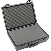 "Black Plastic Protective Storage Cases with Pinch Tear Foam 17""x12""x5-1/2"""