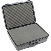 "Black Plastic Protective Storage Cases with Pinch Tear Foam 19""x14""x6"""