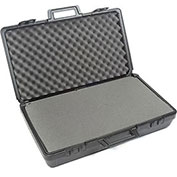 "Black Plastic Protective Storage Cases with Pinch Tear Foam 27-1/2""x16""x7"""