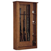 American Furniture Classics Curio Gun Combination Storage Cabinet, 10 Long Guns, Wood