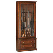 American Furniture Classics Classic 2 Drawers Gun Storage Cabinet, 8 Long Guns, Wood