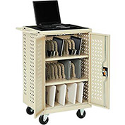 Mobile Storage & Charging Cart, 36 iPad® Tablet Device Capacity, Putty