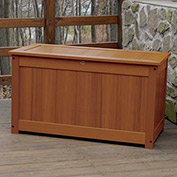 "Highwood® Deck & Patio Storage Box, 44""L x 24-15/16""W x 25-13/16""H, Toffee"