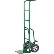 "60"" Tall Hand Truck with Foot Kick, 10"" Solid Rubber"