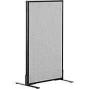 "Office Partition Panel - Freestanding - 24-1/4""W x 42""H - Gray"
