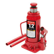 Sunex Tools 12 Ton Bottle Jack, Ductile Steel Base, Electrostatic Paint