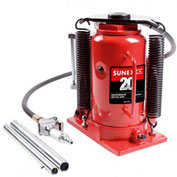 Sunex Tools 20 Ton Air Hydraulic Bottle Jack, Ductile Iron Base, Electrostatic Paint