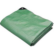 Hygrade Heavy Duty Super Cover Poly Tarp, 10 Mil, Green/Black, 100'L X 100'W