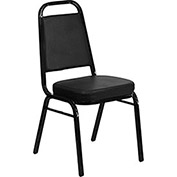 Banquet Stacking Chair, Black Vinyl - Pkg Qty 4