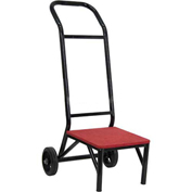 Banquet/Stack Chair Dolly, Red Carpet, Black Metal Frame