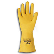 Canners and Handlers Natural Latex Gloves, Unsupported, Unlined, Size 10, 1 Pair - Pkg Qty 12