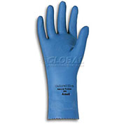 Ansell Natural Blue Chemical Resistant Gloves, Unsupported, Unlined, Size 8, 1 Pair - Pkg Qty 12