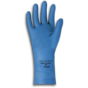 Ansell 88-356 Natural Blue Chemical Resistant Gloves, Unsupported, Unlined, Size 9, 1 Pair - Pkg Qty 12