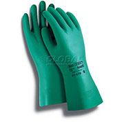 Ansell Sol-Vex® II Chemical Resistant Gloves, Nitrile, Straight Cuff, Size 9, 1 Pair - Pkg Qty 12