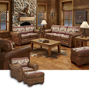 American Furniture Classics Sierra Lodge Sofa, Loveseat, Chair & Ottoman Set