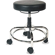 Height-Adjustable Utility Stool, Black