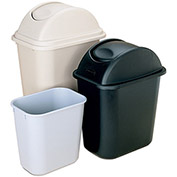 RUBBERMAID Top for Wastebaskets - Fits 28-1/8 Quart Container - Black