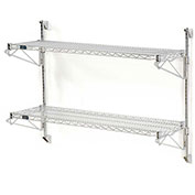 "Nexel Wall Mount Wire 2-Shelf Starter Unit, 48""W x 24""D x 34""H"