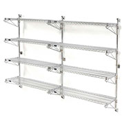 "Nexel Wall Mount Wire 4-Shelf Add-On Unit, 54""W x 14""D x 63""H"